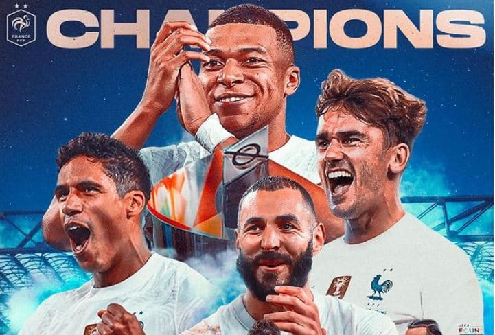 المنتخب الفرنسي يتوج بلقب دوري الأمم الأوروبية  عقب فوزه على نظيره الاسباني